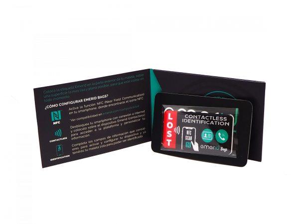 Packacking Emerid Bags Identificador contactless maletas