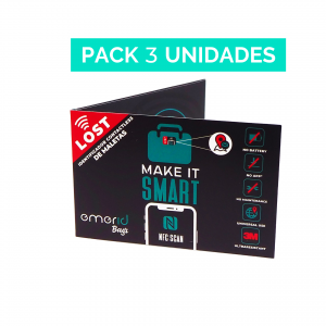 Pack x3 Emerid Bags identificador NFC para maletas